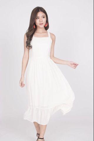 White Cross Back Dress