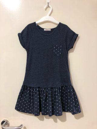 (6Y) Cute Fox Polka Dress