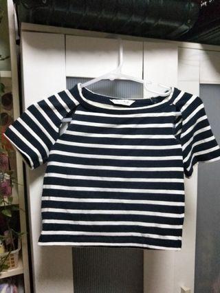 Miss Selfridge sexy striped crop top