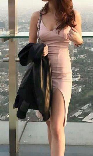 Dress bodycon nude pink