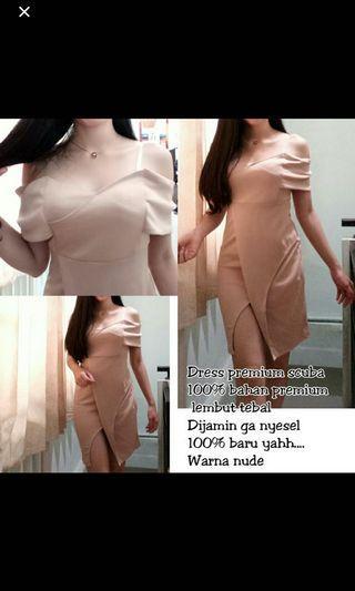 Bodycon dress nude