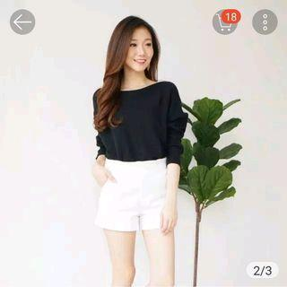 Kniited batwing top