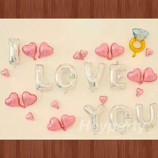 🚚 I LOVE YOU balloons