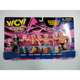 WCW 1998 Authentic Poseable Figures WWF WWE