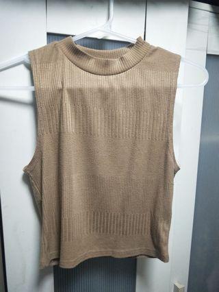 🚚 New look brown sleeveless crop top