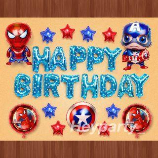 🚚 Superhero's Birthday Balloons