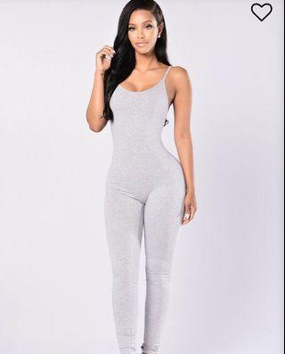Grey romper/ bodysuit