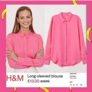 H&M Basic Longsleeve - Pink Fanta