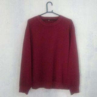 Crewneck Uniqlo Red (L)