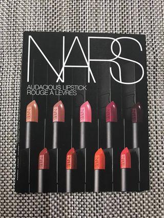 Nars Audacious 8色唇膏 sample