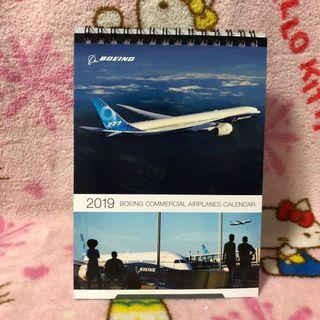 Boeing Aircrafts 2019 Desktop Calender