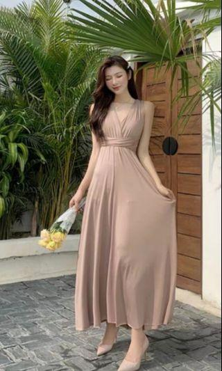 Convertible/ Multiway long Dress (Latte Brown)