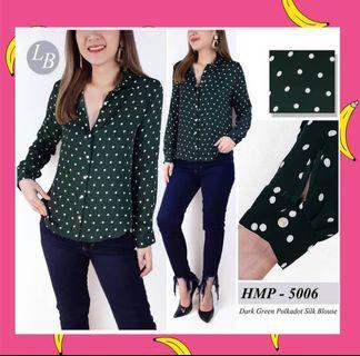 H&M Polkadot - Dark Green