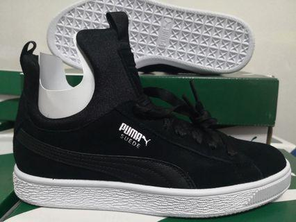 EU 37.5 Puma Suede Fierce Women's Sneakers - Puma Black 100% Authentic with Box and Tag