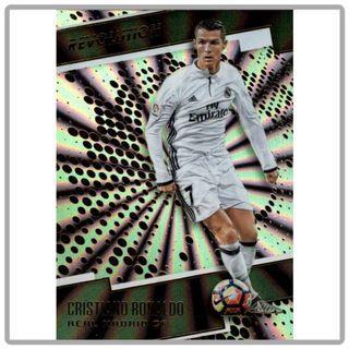 2017 Panini Revolution Soccer Cristiano Ronaldo Sunburst Parallel
