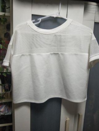 Something Borrowed hanging white crop top