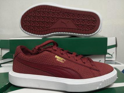 EU 37.5 Puma Breaker Suede Women's Sneakers - Red Dahilia Puma Maroon 100% Authentic with Box and Tag