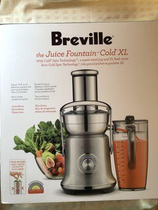 Breville The Juice Fountain Cold XL juicer for sale!