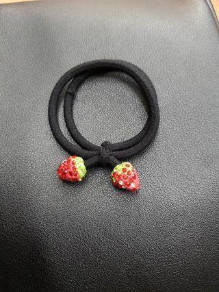 韓版水晶草莓橡皮筋