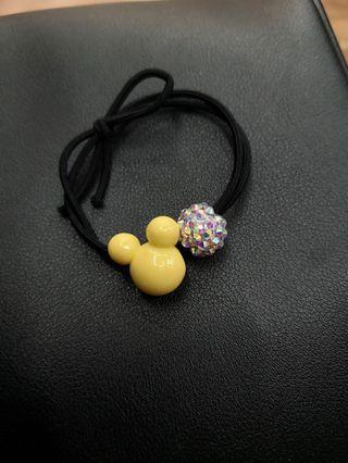 韓式米奇+水晶球橡皮筋
