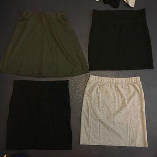 Short skirts/ tight skirts