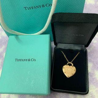 Tiffany 18k玫瑰金 頸鏈