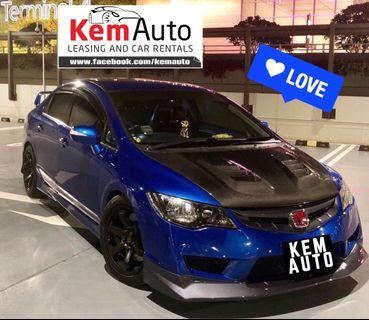 Drift Racing Type R Bodykit HONDA CIVIC 1.8A Loud, Sporty & Reliable for Rent