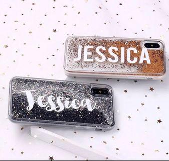 [PO] Customized Name Liquid Glitter Sparkle iPhone Phone Casing