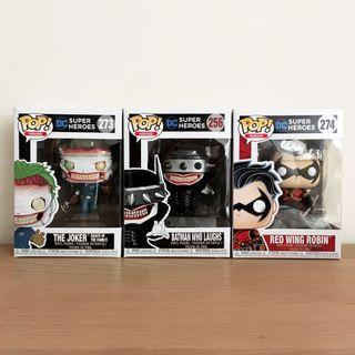 Funko Pop The Joker (Death of the Family), Batman Who Laughs, Red Wing Robin