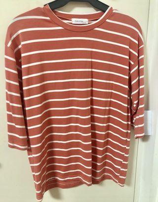 3/4 shirt (korean inspired)