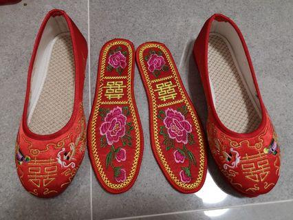 褂鞋 Chinese wedding shoes