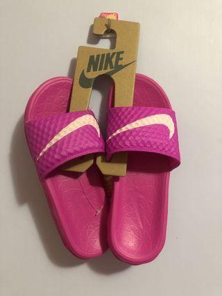 Nike 桃紫色 拖鞋 22cm 全新 原價$900