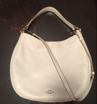 coach nomad large hobo bag white