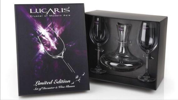 紅酒醒酒器連酒杯Lucaris set of decanter and glass Crystal Glass