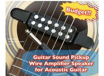 🚚 Guitar Sound Pickups for Acoustic/Electric 3m Long Wire to Amplifier Speaker!! Budget Plan!!