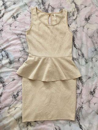 Mendocino peplum dress size m