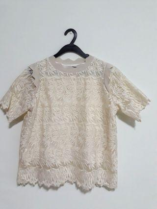 Lace Biege Top
