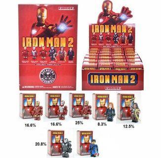 全6種 Medicom Iron Man Kubrick MK 4 / MK5 / MK6 / War Machine / Whiplash / Black Widow