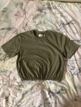 aritzia Wilfred piaf crop t shirt size xs