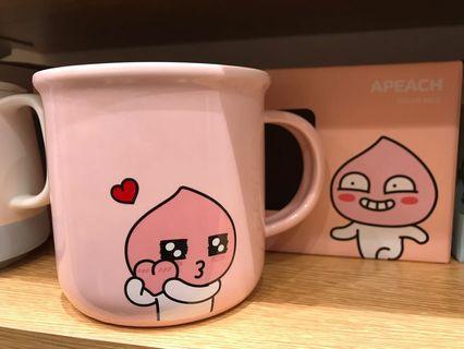Kakao Friends Ryan Apeach cup 杯 有耳 柄 實用 韓國大熱 ok