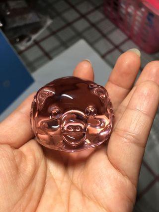 Crystal Pig Figurines (Pink)