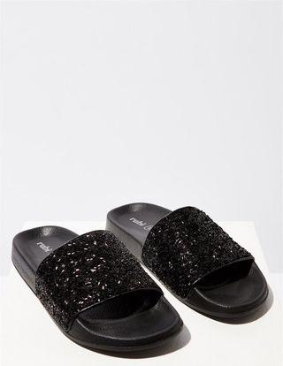 (Pending Pick-Up)To Bless-Rubi Slippers Grey Colour glitter