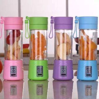 Fruits & Vegetables Blender Bottle/ Juicer Bottle - Available in purple, green, pink and blue colour - Instock
