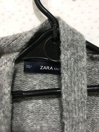 ZARA毛呢外罩衫