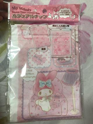 Authentic from Japan My Melody Double Thick clothes Bag