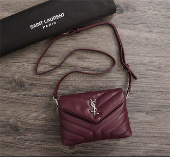 YSL LouLou Bag Maroon colour