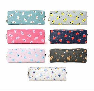 [OFFICIAL] BT21 C-POCKET PATTERN PENCIL CASE