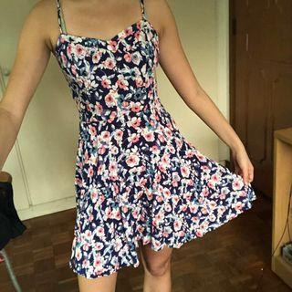 Cotton On Navy Floral Skater Dress #endgameyourexcess