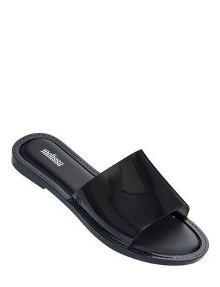 Melissa black gloss slider sz US9