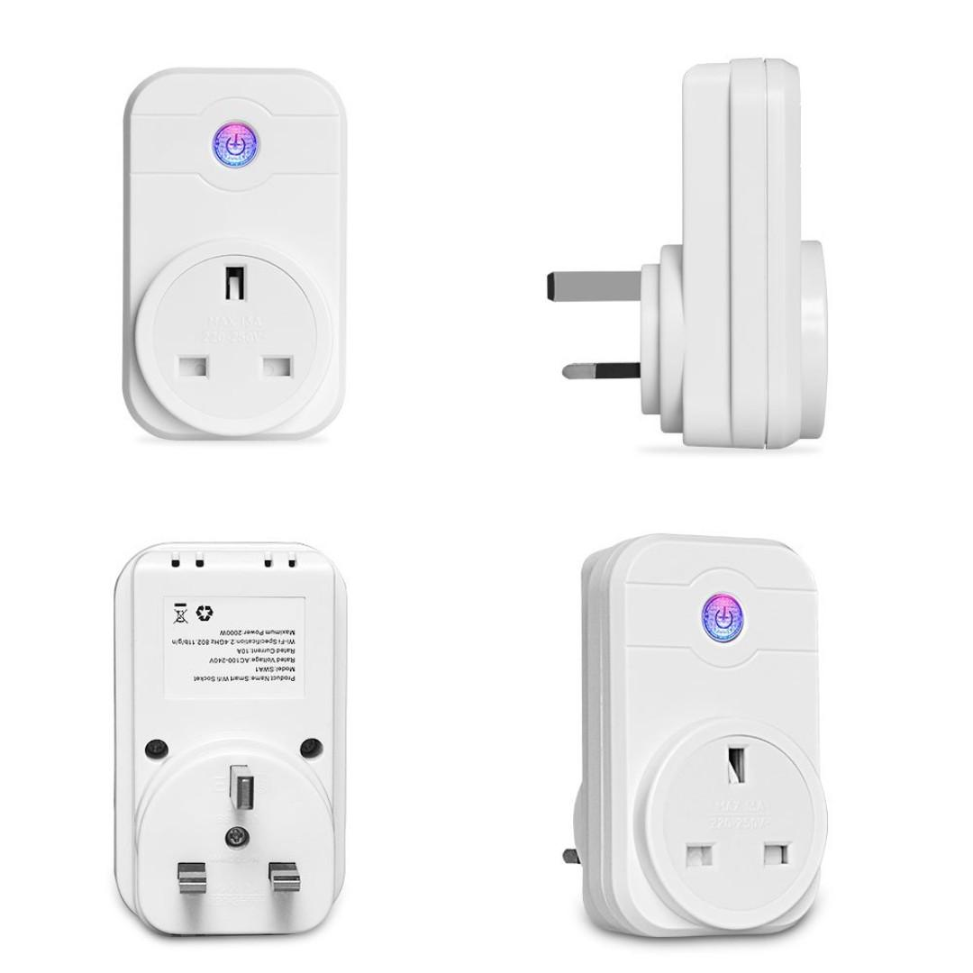 No Hub Required LINGANZH Smart Plug WiFi Enabled Mini Smart Outlet Compatible with  Alexa /& Google Assistant Remote Control Your Devices from Anywhere